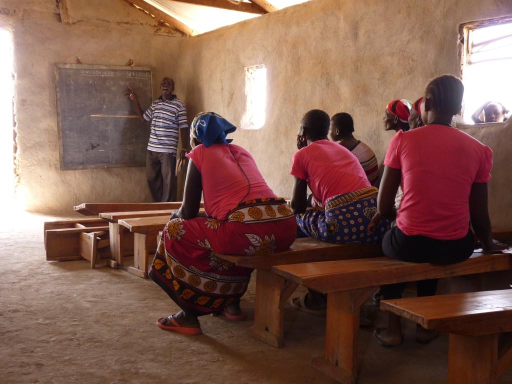Vyučovanie v dedine Kodopa