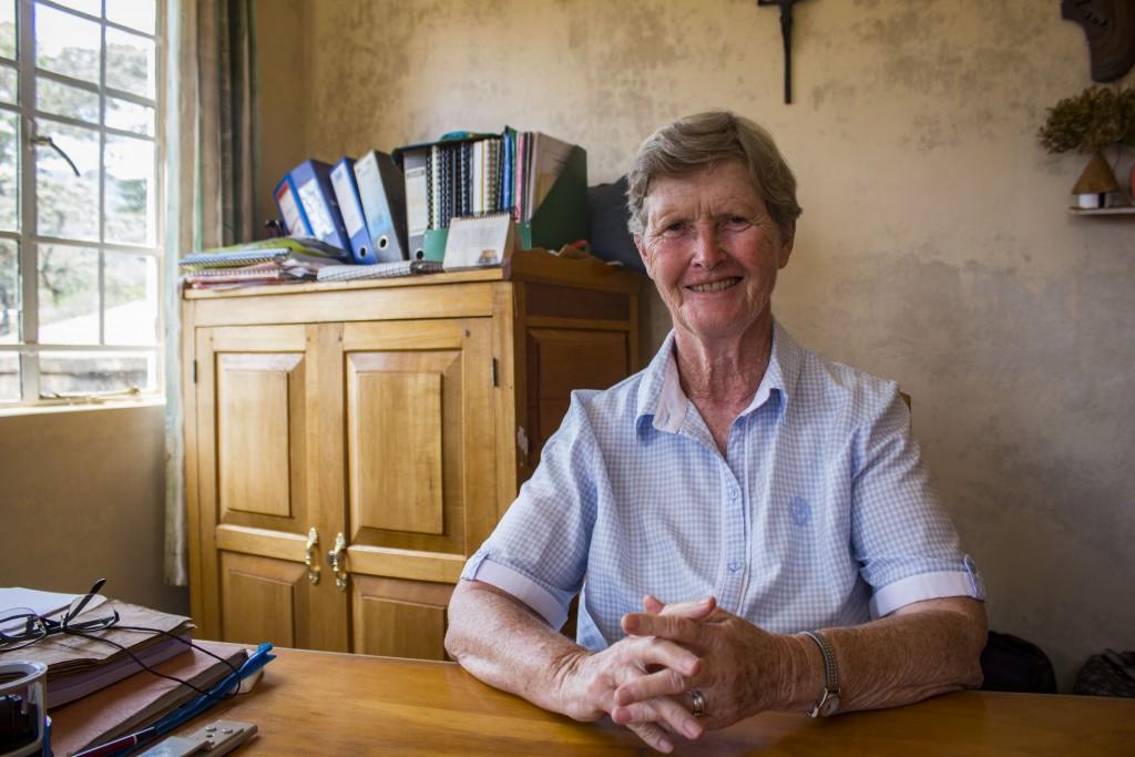 Riaditeľkou tréningovéhocentra je húževnatá írska misionárka Sr. Veronica Quigly