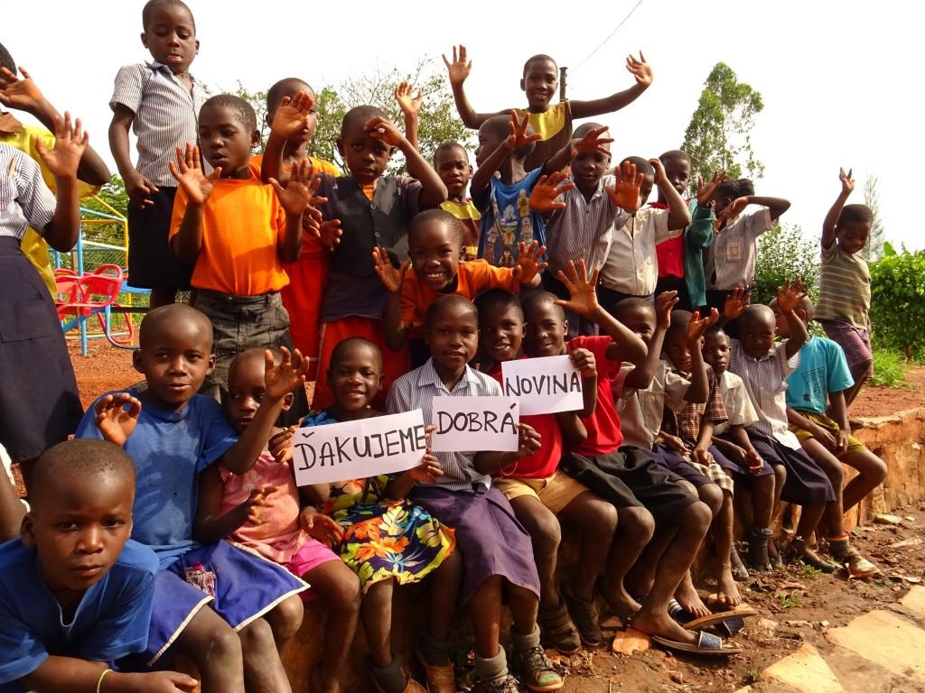 Vďačnosť detí z projektu, Buikwe 2017