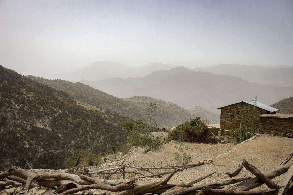 Hornatý ráz oblasti Irob na severe Etiópie