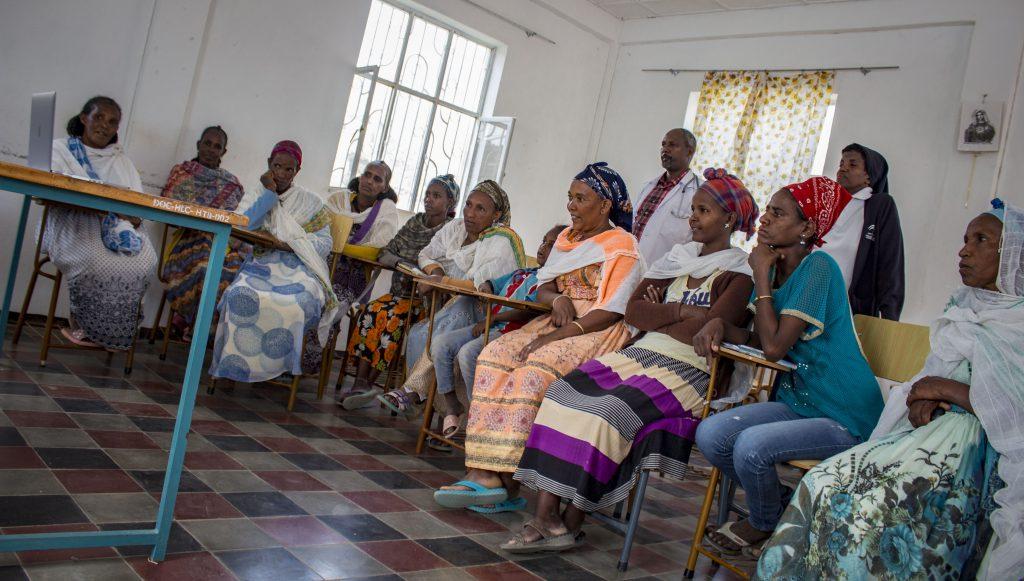 Počas stretnutia podpornej skupiny žien