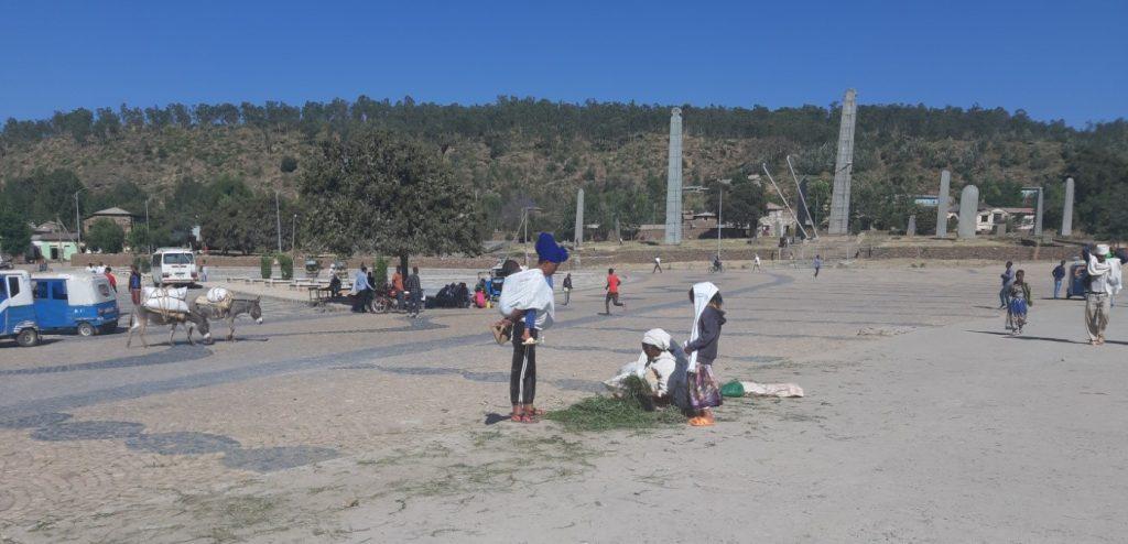Predaj trávy v Axume