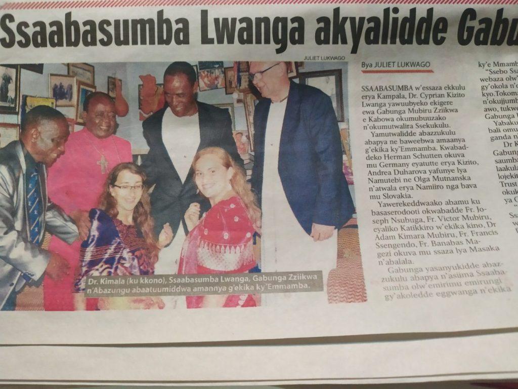 Novinový článok o našej návšteve Gabungu - hlave klanu Mamba